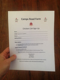 chicken csa signup